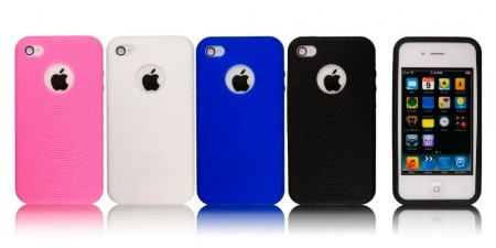 Deksel for iPhone 4 & 4S Silikon Sirkel