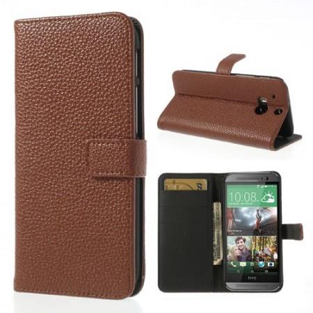 Lommebok Etui HTC One (M8) Classic Brun