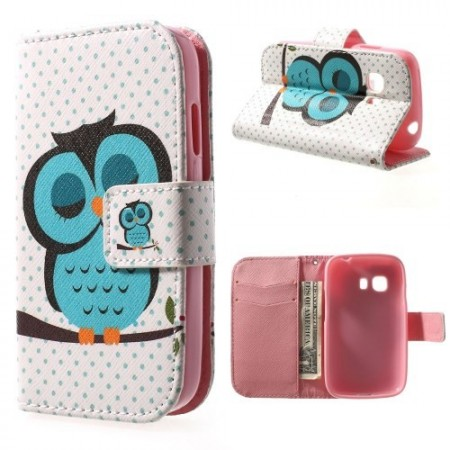 Etui m/kortlommer for Galaxy Young 2 Ugle 6