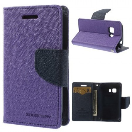 Etui m/kortlommer for Galaxy Young 2 Mercury Lilla