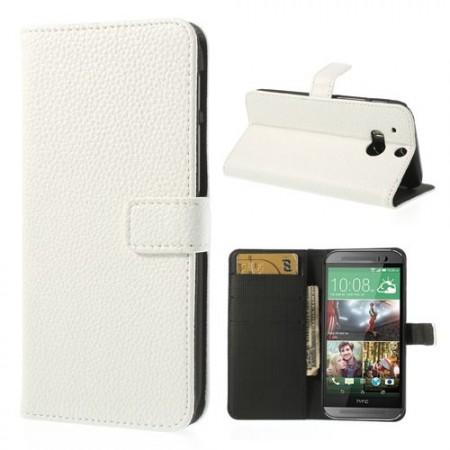 Lommebok Etui HTC One (M8) Classic Hvit