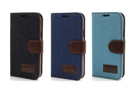 Lommebok Etui for Samsung Galaxy S4 Active Denim