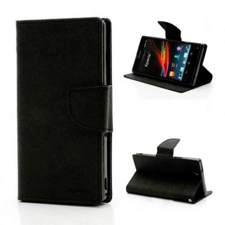 Lommebok Etui for Sony Xperia Z2 Mercury Svart
