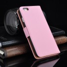 Lommebok Etui for iPhone 5/5s Genuine Lys Rosa thumbnail