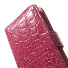 Etui for iPhone 6 Croco m/kortlommer Rosa thumbnail
