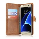 Galaxy S7 Edge 2i1 Etui for Galaxy S7 m/3 kortlommer Classic Lys Brun thumbnail