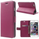 Lommebok Etui for iPhone 6 Pluss Lychee Rosa thumbnail