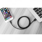 USB Sync og ladekabel Lightning (iPhone) 1,8 meter Svart thumbnail