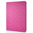 Mappe Etui for iPad Air Glitter Blomst Rosa thumbnail