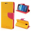 Lommebok Etui for Samsung Galaxy S5 (G900) Mercury Gul thumbnail