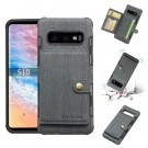 Galaxy S10 Deksel Wallet Brushed Koksgrå thumbnail