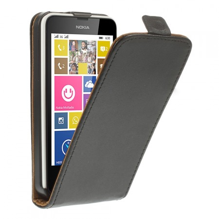 Etui for Lumia 630 Flipp Svart