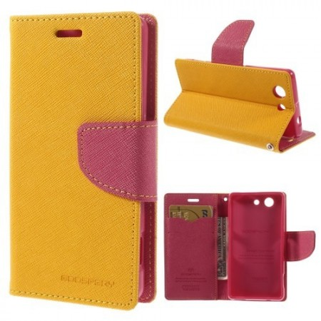 Lommebok Etui for Sony Xperia Z3 Compact  Mercury Gul