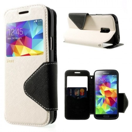 Etui for Galaxy S5 Mini Roar m/Skjermvindu Hvit