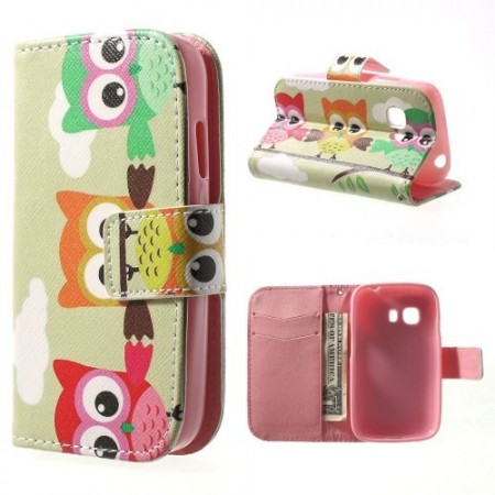 Etui m/kortlommer for Galaxy Young 2 Ugle 3
