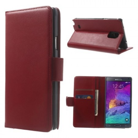 Etui for Galaxy Note 4 Smooth Rød
