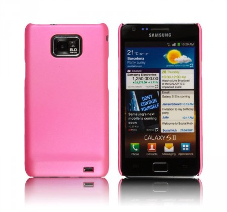 Hardcase Deksel for Samsung Galaxy S2 Lys Rosa