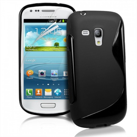 Deksel for Samsung Galaxy Ace Style S-line Svart