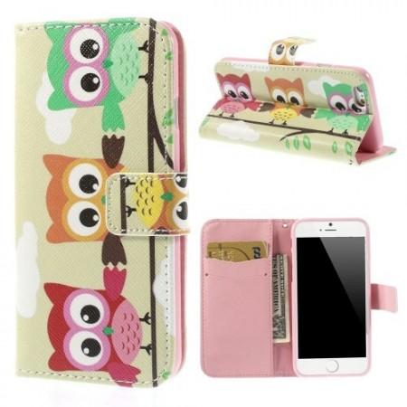 Etui m/kortlomme for iPhone 6 Ugle 3