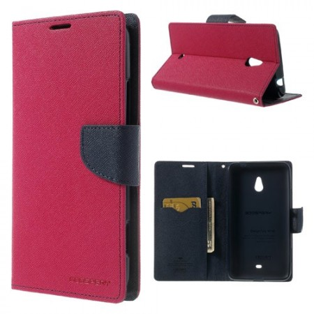 Lommebok Etui for Lumia 1320 Mercury Mørk Rosa