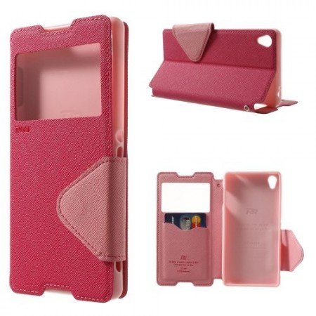 Slimbook Etui for Sony Xperia Z3 Roar Mørk Rosa