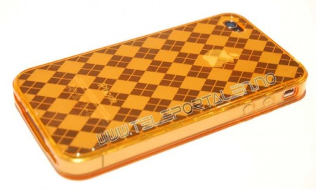 Gel Case for Iphone 4  Ruter Orange