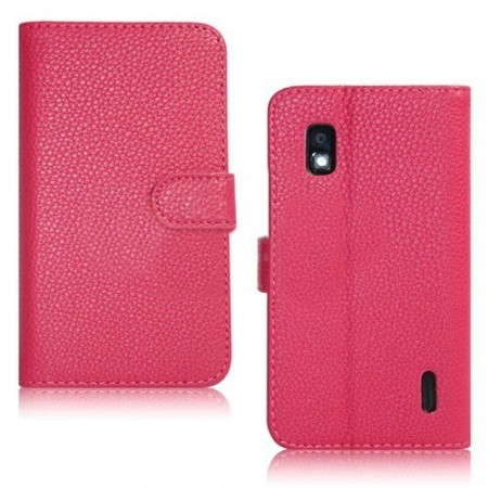 Lommebok for LG Nexus 4 (E960) Rosa