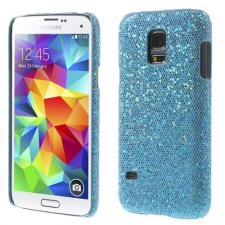 Deksel for Samsung Galaxy S5 Mini Glitter Turkis