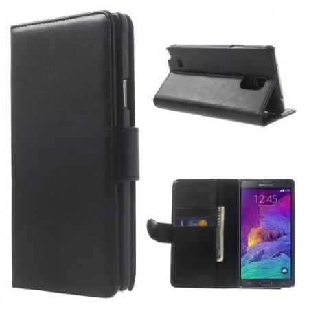 Etui for Galaxy Note 4 Smooth Svart
