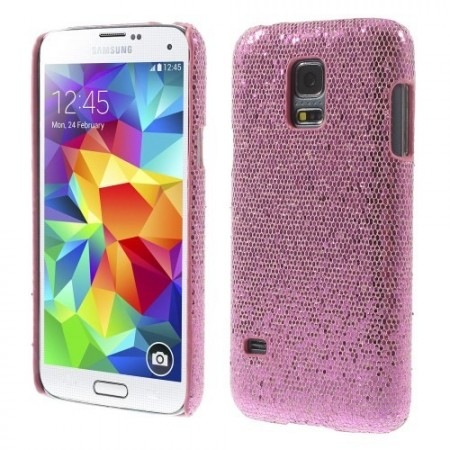 Deksel for Samsung Galaxy S5 Mini Glitter Rosa