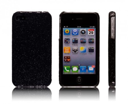 Glittercase for iPhone 4/4S Svart