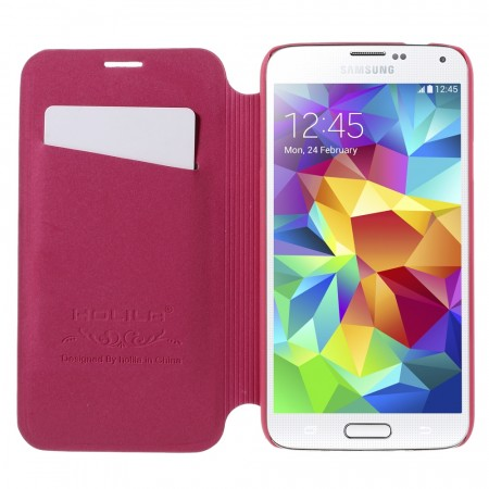 Etui m/kortlomme for Galaxy S5/S5 Neo Lychee Rosa