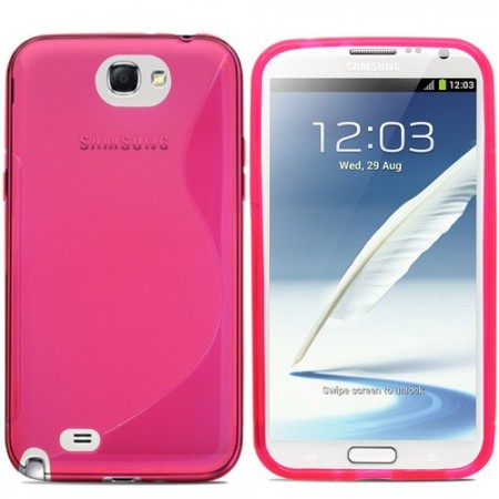 S-line Deksel for Samsung Note 2 Rosa