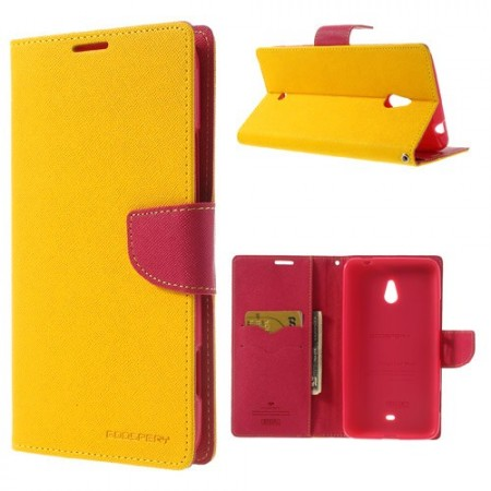 Lommebok Etui for Lumia 1320 Mercury Gul