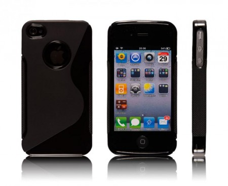 Deksel for iPhone 4 & 4S S-Line Svart