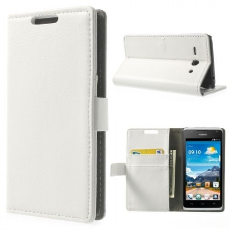 Etui Lommebok for Huawei Ascend Y530 Classic Hvit