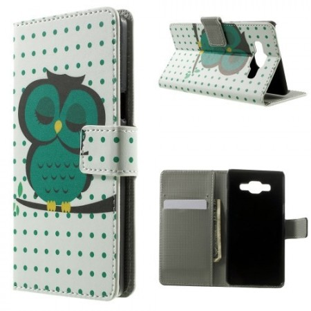 Lommebok Etui for Galaxy A5 Ugle 6