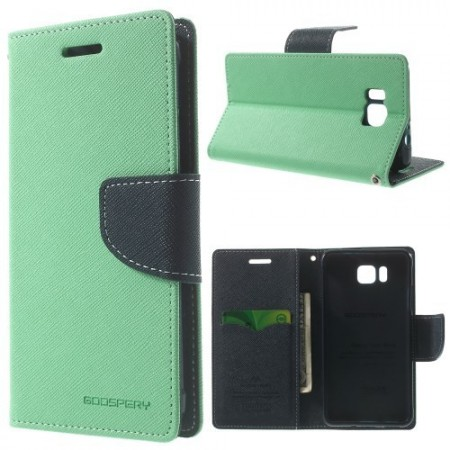 Etui m/kortlommer for Galaxy Alpha Mercury Mint Grønn