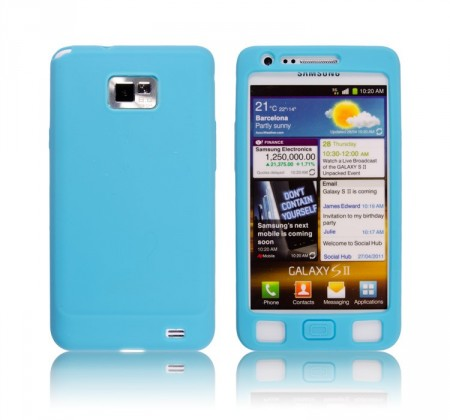 Silikon Etui for Galaxy S2 Turkis