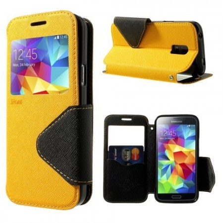 Etui for Galaxy S5 Mini Roar m/Skjermvindu Gul