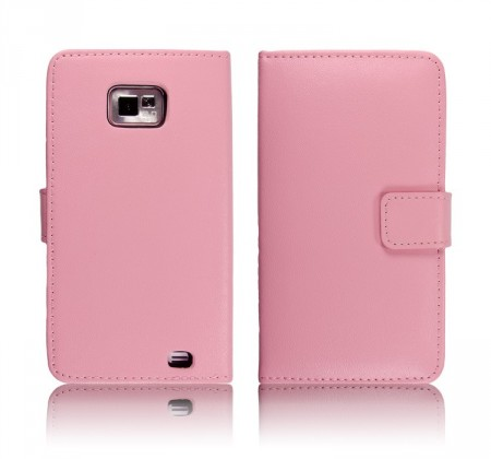 Lommebok for Samsung Galaxy S2 Classic Rosa