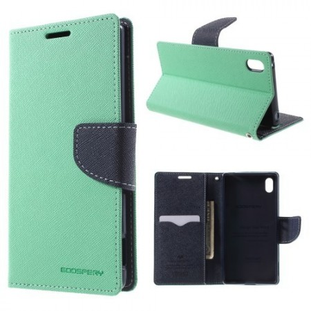 Lommebok Etui for Sony Xperia Z3+ Mercury Mint Grønn