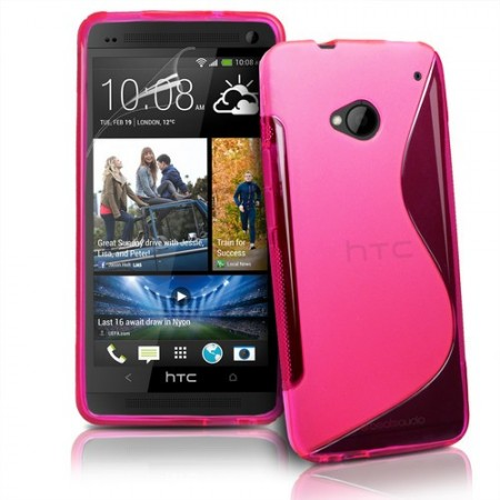 Deksel for HTC One S-Line Rosa