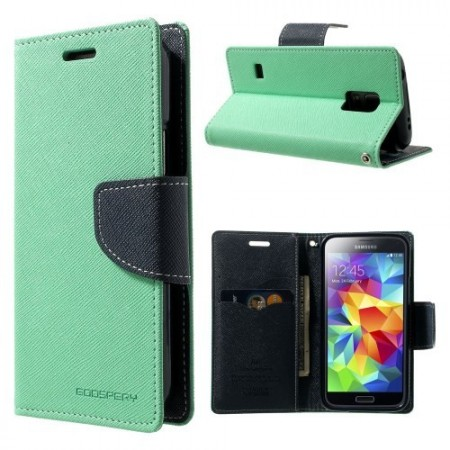 Etui for Galaxy S5 Mini Mercury Mint Grønn m/kortlommer