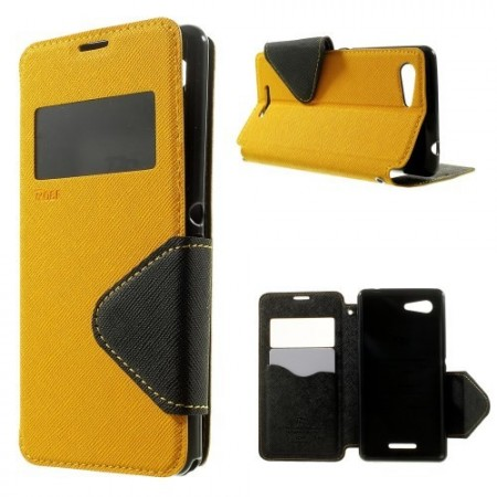 Etui for Xperia E3 Roar m/Skjermvindu Gul
