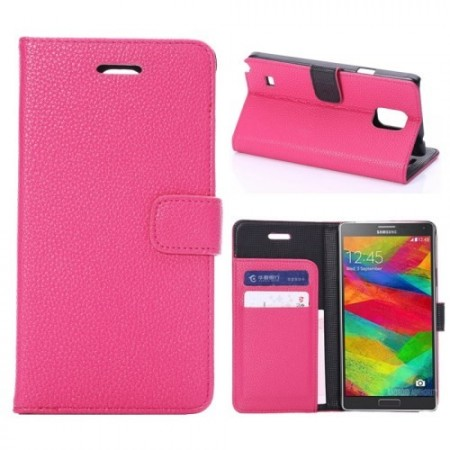 Etui for Galaxy Note 4 Classic Mørk Rosa