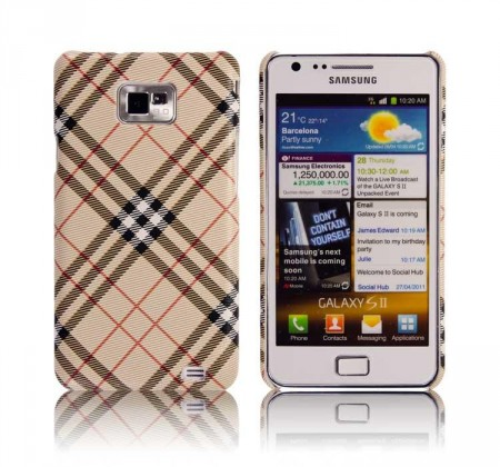Deksel for Galaxy S2 Vintage Beige 1