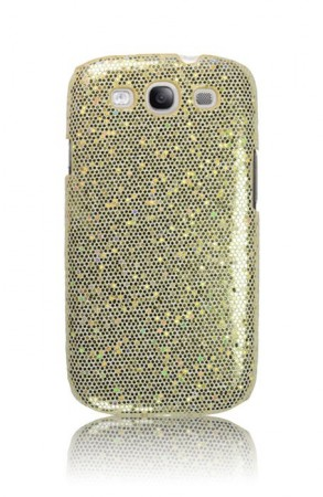 Deksel for Samsung Galaxy S3 Glittercase Gull