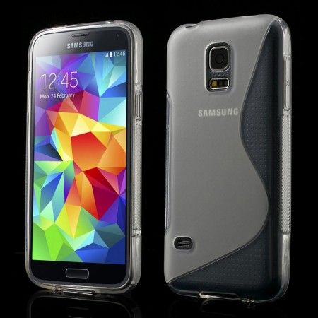 Deksel for Samsung Galaxy S5 Mini S-line Transparent