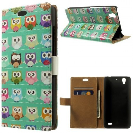 Etui for Huawei Ascend G630 Lommebok Ugle 3
